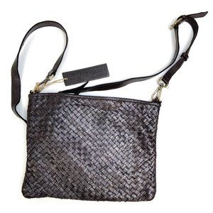 Platania   Genuine Leather Woven Crossbody Bag